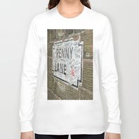 liverpool Long Sleeve T-shirts featuring Liverpool Street Sign by Jonah Anderson