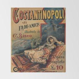 Constantinople Italian vintage book advertisement Throw Blanket