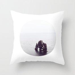 Hvítserkur, Iceland Throw Pillow