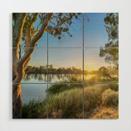 River Sunrise Wood Wall Art