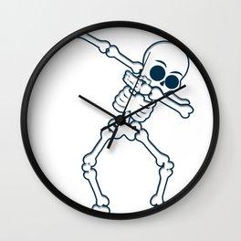 Skeleton dab halloween cool death tomb gift Wall Clock
