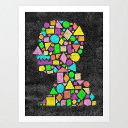 Mosaic Silhouette Art Print