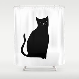 Mash the Cat Shower Curtain