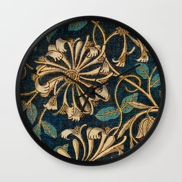 Honeysuckle (1876) by William Morris, Abstract II Poster Wall Clock
