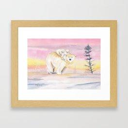 Polar Bear Family Framed Art Print