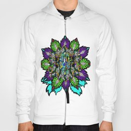 flower touch of color Hoody