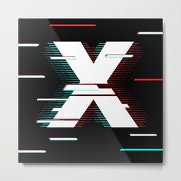 X futuristic poster Metal Print