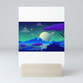 The View On Saturn Mini Art Print