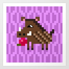 wild boar Art Print