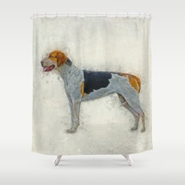 American Foxhound Shower Curtain