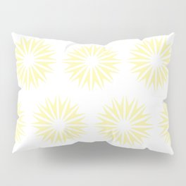 Cream Modern Sunbursts Pillow Sham