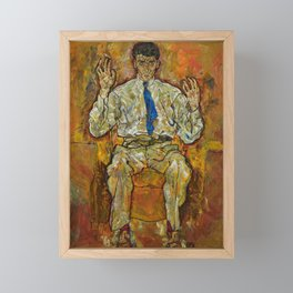 Egon Schiele - Portrait of Paris von Gütersloh, 1918 Framed Mini Art Print