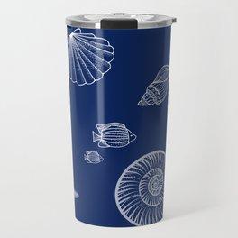 Mandala blue Travel Mug