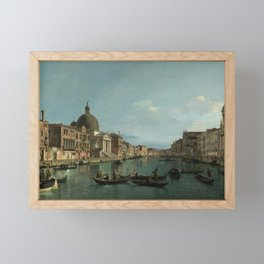 A View of the Grand Canal by Canaletto Framed Mini Art Print