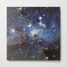 LH 95 stellar nursery in the Large Magellanic Cloud (NASA/ESA Hubble Space Telescope) Metal Print