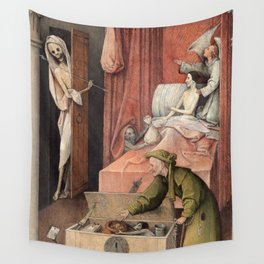 Hieronymus Bosch - Death and the Usurer Wall Tapestry