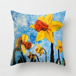 Daffy Daffs of Spring Throw Pillow