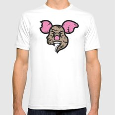 Zombie Piglet White MEDIUM Mens Fitted Tee