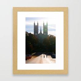 Autumn Silhouette Framed Art Print
