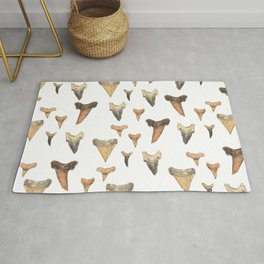Shark Teeth Study Rug