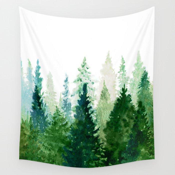 Pine Trees 2 Wandbehang