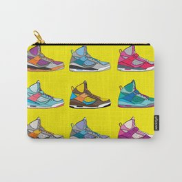 Colorful Sneaker set illustration No 1 Carry-All Pouch