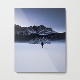 Frozen Lake in Bavaria Metal Print