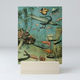 "Adolphe Millot ""Ocean"" Sea Creatures Nouveau Larousse 1905 Mini Art Print"