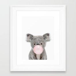 Bubble Gum Baby Koala Framed Art Print