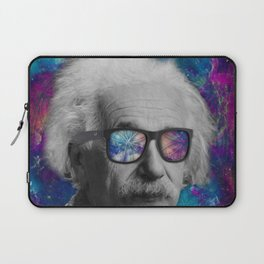 Albert with Bans... in Space Laptop Sleeve