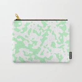 Spots - White and Light Green Carry-All Pouch