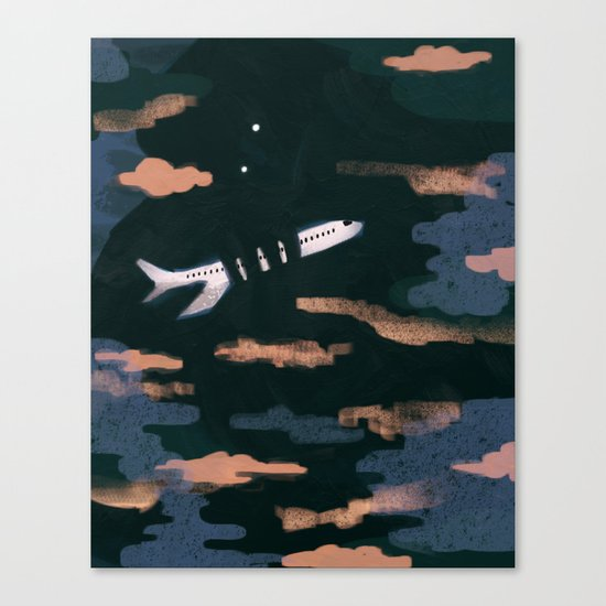 Airplane Angst Canvas Print