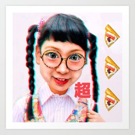Otaku Girl Art Print