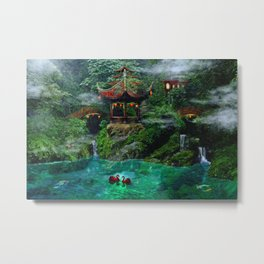 Tale of the Red Swans Metal Print
