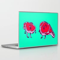 meat Laptop & iPad Skins featuring Meat meet Meat by didu didu