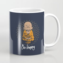 Be Happy Little Buddha Kaffeebecher