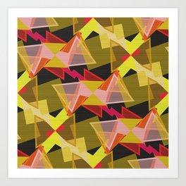 Shapes on canvas Art Print