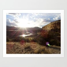 Rustler's Sunset Art Print