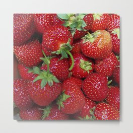 Strawberry Season Metal Print