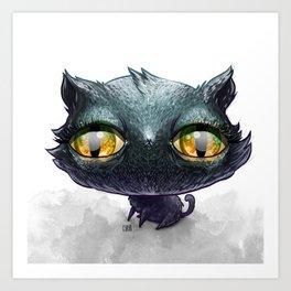 Dumb Black Cat Art Print