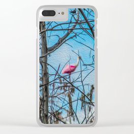 The Rose in the Tree Clear iPhone Case