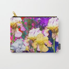 Yellow & Purple Spring Red Iris Garden Carry-All Pouch