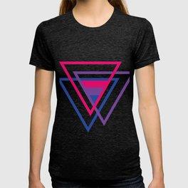 Bi Pride Bisexual Flag Triangle T-shirt