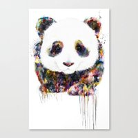 panda Canvas Prints featuring panda by ururuty