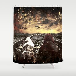 wanderlust wsfn Shower Curtain