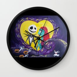 Jack and Sally Wall Clock