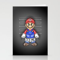 mario kart Stationery Cards featuring It's ME, Evil Mario !  by Art & Be