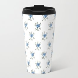 Stylised Flower Pattern Travel Mug
