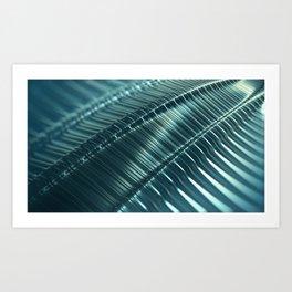 Metal Techno Surface Art Print