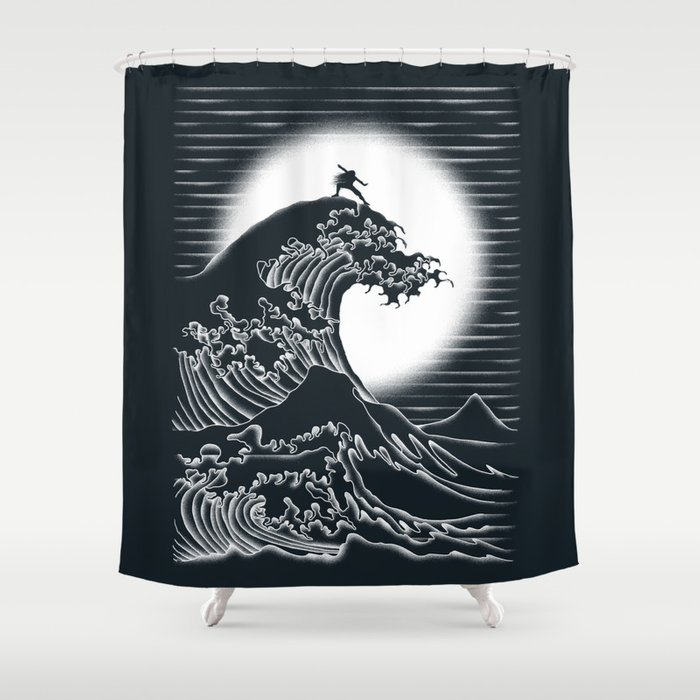 Waterbending Shower Curtain